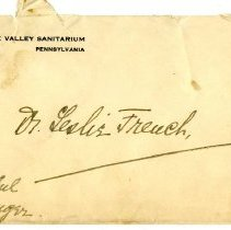 Image of 2010.69 - Envelope and letter to Dr. Leslie French