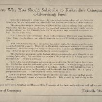 Image of 2011.11 - Reasons Why You Should Subscribe to Kirksville's Osteopathy Advertising Fund