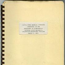 Image of 2004.177 - Louisa Burns Memorial Symposium