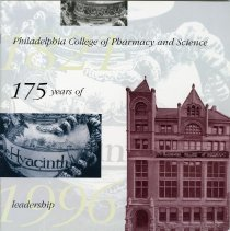 Image of 2004.184 - Philadelphia College of Pharamacy and Science 175th Jubilee