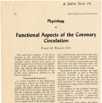 Image of 2004.204 - Functional Aspects of the Coronary Circulation