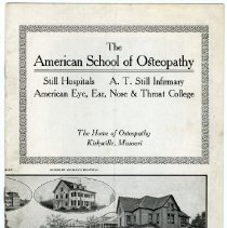 Image of 2004.229 - The American School of Osteopathy