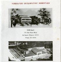 Image of 2006.70 - Normandy Ostepathic Hospitals:  Volunteers Handbook