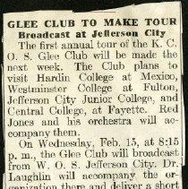 Image of 2004.25 - Glee Club to Make Tour