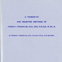 Image of 2008.80 - A Tibute to and Selected Writings of Harold I. Magoun Sr.