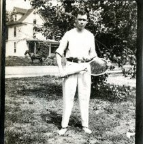 Image of 2010.87 - Photograph of man holding a tennis racquet