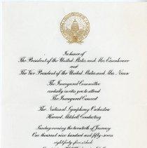 Image of 2004.238 - Inaugural Concert Invitation to Harold I. Magoun, Sr.