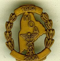 Image of 2004.31 - Maine Osteopathic Association 100th Anniversary Pin