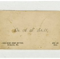 Image of Andrew Taylor Still's Business Card