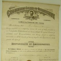 Image of 2004.43 - Diploma for Rosa Barnes Henry