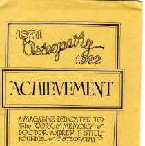 Image of 2010.69 - Achievement Magazine dedicated to teh Work and Memory of Doctor Andrew Still