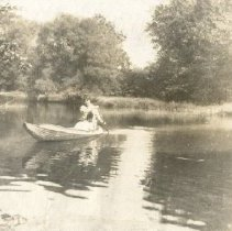 Image of 2010.87 - Photograph of Woman Canoeing