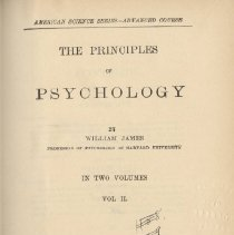Image of 1997.42 - Principles of Psychology Volume 2