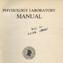 Image of 1997.42 - Physiology Laboratory Manual