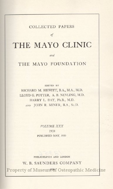 1997 42 - Collected Papers of the Mayo Clinic and the Mayo