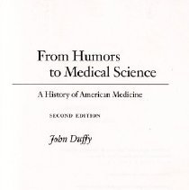 Image of From Humors to Medical Science A History of American Medicine