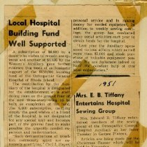 Image of 2004.78 - Local Hospital Building Fund Well Supported