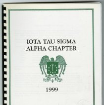 Image of 2004.78 - Iota Tau Sigma Alpha Chapter 1999 Booklet