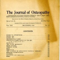 Image of 2001.82 - The Journal of Osteopathy