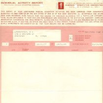 Image of Papers for medical license renewal