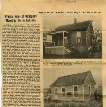 Image of Original Home Moved to Kirksville