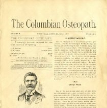 Image of Columbian Osteopath Journal July 1898