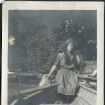 Image of Woman Sitting in Canoe