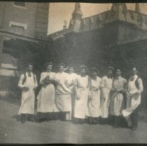 Image of 2011.79 - Men and Women in Aprons