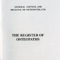 Image of 2011.84 - The Register of Osteopaths
