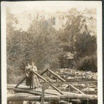 Image of 2011.86 - Two Women on Wooden Bridge