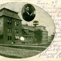 Image of Kirksville College of Osteopathy with Andrew Taylor Still