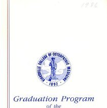 Image of 2011.89 - Kirksville College of Osteopathic Medicine Commencement Program