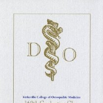 Image of Kirksville College of Osteopathic Medicine Commencement Itinerary Handbill