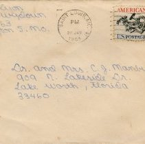 Image of Envelope and Letter to Dr. and Mrs. C.J. Manby from Nell Lyon
