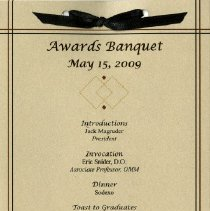 Image of 2011.89 - Kirksville College of Osteopathic Medicine Awards Banquet Program