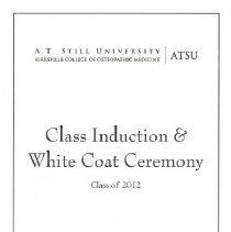 Image of 2011.89 - Induction and White Coat Ceremony Program