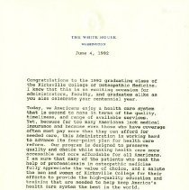 Image of Letter from President George H. W. Bush to KCOM