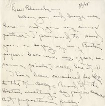 "Image of Letter from ""Buddy,"" Quintus L. Drennan to Blanche Still Laughlin Regarding"