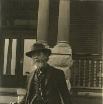 Image of 1975.91 - Andrew Taylor Still Porch Steps with Cane and Artillery Shell 1905