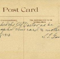 Image of AT Still Signed Postcard 1912