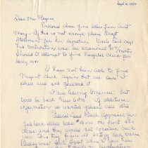 Image of 2008.33 - Letter from [Jane L. D.] to Mr. Plagens