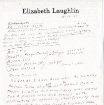 Image of 2008.33 - Notes on Still Family History