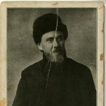 Image of 2010.02 - Postcard of Andrew Taylor Still Wearing a Cossack Fur Hat