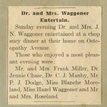 Image of 2001.59 - Dr. and Mrs. Waggoner Entertain