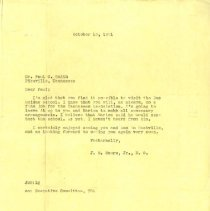 Image of 1989.1258 - Letter from J.M. Moore Jr. D.O. to Dr. Paul G. Smith 1951 Oct 15