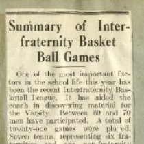 Image of 2000.31 - Summary of Interfraternity Basket Ball Games