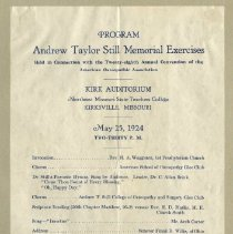 Image of 2000.31 - Andrew Taylor Still Memorial Exercises