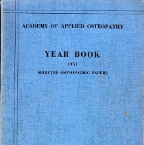 Image of 2011.97 - Academy of Applied Osteopathy Yearbook 1951 Selected Papers