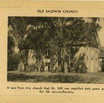 Image of 1974.34 - Old Baldwin Church Photo