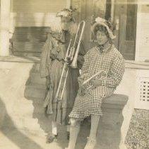 Image of Roy M. Wolfe & Bernard McMahon in drag ca. 1912